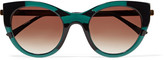 Thierry Lasry Joyridy cat-eye frame acetate and metal sunglasses