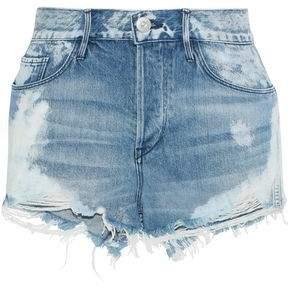 3x1 Joan Distressed Faded Denim Shorts