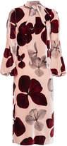 Maria Lucia Hohan Rona Printed Velvet Dress