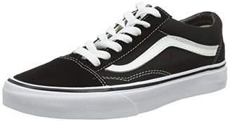 Vans Unisex Adults Old Skool Classic Suede/Canvas Sneakers, Black (Black/White), 7 UK ( EU)