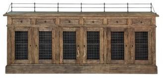 Sarreid Ltd. Narrow 6 Door and 6 Drawer Sideboard