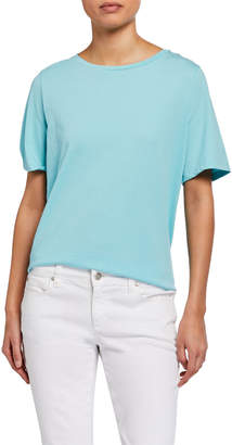 Eileen Fisher Petite Organic Cotton Jersey Short-Sleeve Crewneck Tee