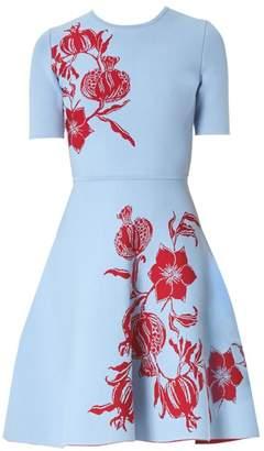 Carolina Herrera Floral Knit Dress