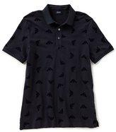 Armani Exchange Armani Jeans Slim-Fit Eagle Short-Sleeve Polo Shirt