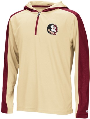 Colosseum Youth Gold Florida State Seminoles Heliskiing Hooded Quarter-Zip Windshirt Jacket