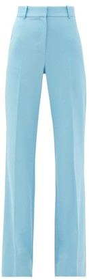 Bella Freud David High-rise Wool Wide-leg Trousers - Blue