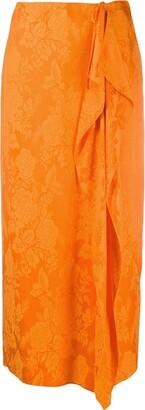 ATTICO Gia floral jacquard skirt