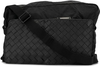 Bottega Veneta Intrecciato Weave Pocket Messenger Bag