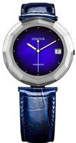 Jowissa Women's J1.196.XL Safira 24 Blue Dial Faceted Sapphire Glass Date Watch