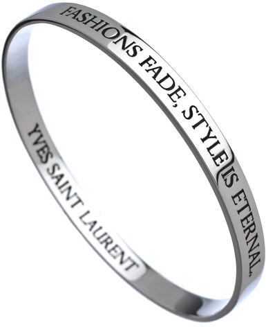 Saint Laurent Charmed Circle Silver Quote Inspirational Bangle