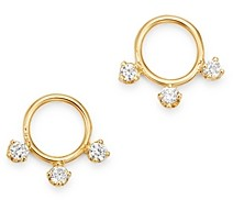 Zoë Chicco 14K Yellow Gold Diamond Small Circle Stud Earrings