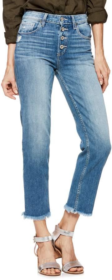 Paige Sarah High Waist Straight Leg Jeans