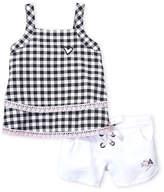 Betsey Johnson Toddler Girls) Two-Piece Gingham Tank & Shorts Set