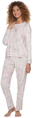 Flora Nikrooz Women's Flora by Elie Floral Velour Pajama Set