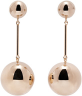 J.W.Anderson Gold Sphere Drop Earrings