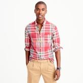 J.Crew Slim madras shirt in coral plaid