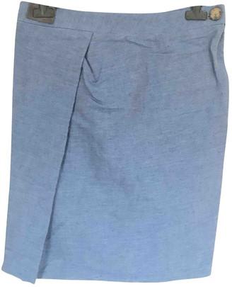 Vivienne Westwood Blue Linen Skirt for Women