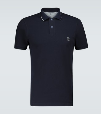 Brunello Cucinelli Slim-fit short-sleeved polo shirt