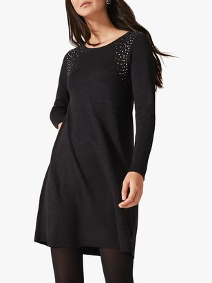 Phase Eight Stormy Stud Dress, Charcoal