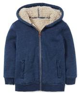 Toddler Boy's Mini Boden Fleece Lined Zip Hoodie