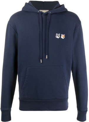 MAISON KITSUNÉ Embroidered Logo Cotton Hoodie