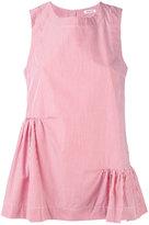 P.A.R.O.S.H. ruched pinstripe blouse - women - Cotton - L