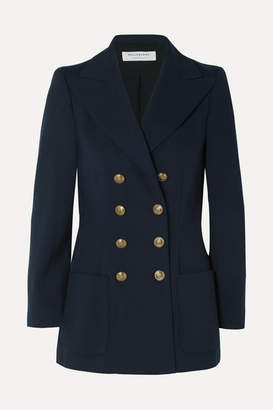 Philosophy di Lorenzo Serafini Double-breasted Cady Blazer - Navy