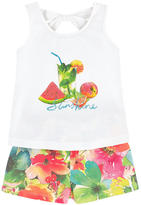 Mayoral Graphic tank top and shorts