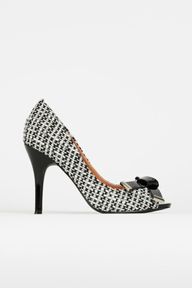 Wallis Monochrome Bow Detail Heeled Shoe