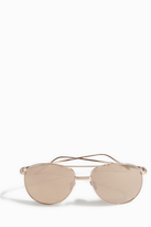 Linda Farrow Luxe Aviator Double Bridge Sunglasses
