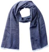 Portolano Blue Tweed Wool Lightweight Scarf