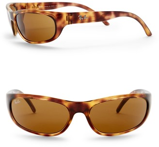 Ray-Ban 60mm Wrap Sunglasses