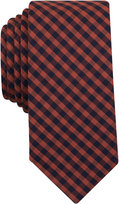 Bar III Men's Rust Dobby Gingham Slim Tie, Only at Macy's