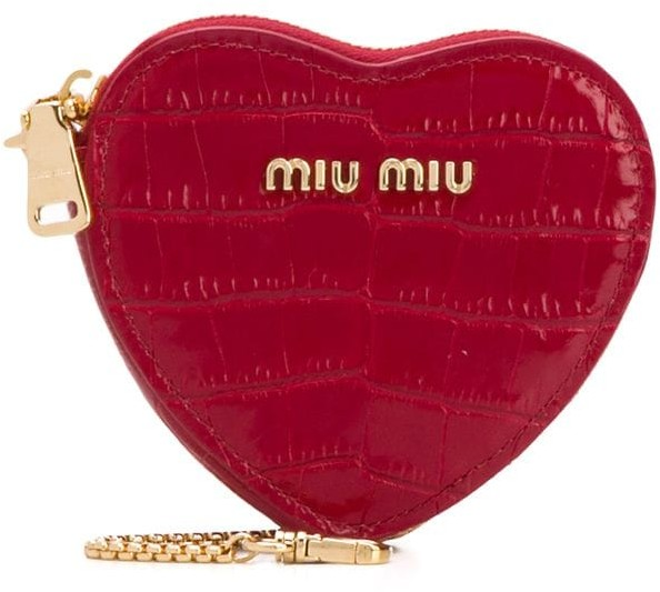 Miu Miu Logo Heart Coin Purse