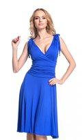 Glamour Empire. Women's Wrap Deep V-Neckline Jersey Summer Skater Dress. 142 (