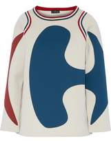 Anya Hindmarch Neoprene-Paneled Cotton-Terry Sweatshirt