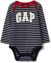Gap Stripe logo long sleeve bodysuit