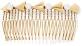 LELET NY - Faux Pearl-embellished Gold-tone Hair Slide - One size