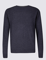 M&s Collection Pure Lambswool Crew Neck Jumper