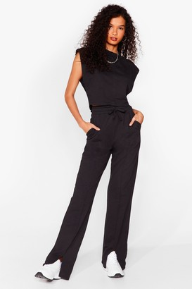 Nasty Gal Womens Haven't Seam You Before vest Top and Joggers Set - Black - 6