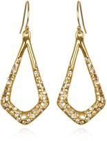 Alexis Bittar Hyperion Gold Small Sculpted Teardrop Earrings