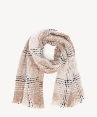 Sole Society Women's Over Plaid Scarf Cream Multi From