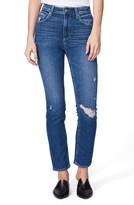 Paige Sarah High Waist Slim Ripped Straight Leg Jeans