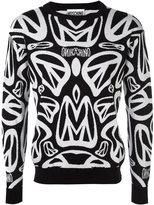 Moschino peace sign intarsia jumper