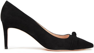 Stuart Weitzman Knotted Suede Pumps