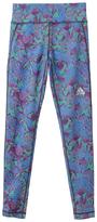 adidas Blue Floral Motion 2 Leggings - Girls