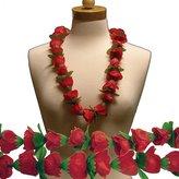 "Windy City Novelties Red Rose Silk Flower 36"" Lei"