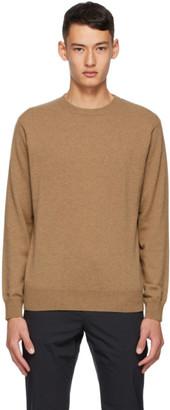 Dunhill Tan Cashmere Crewneck Sweater