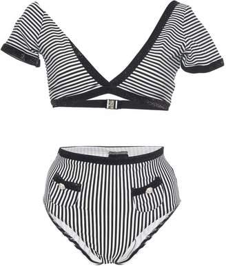 Leslie Amon Mary Lou Striped Bikini