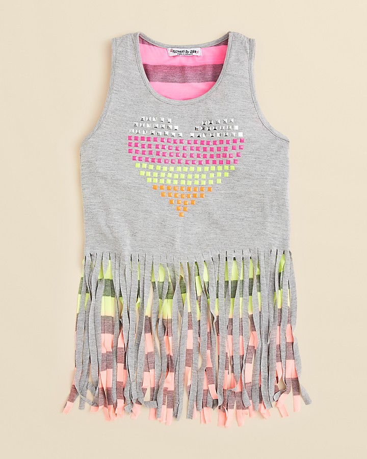 Flowers by Zoe Toddler Girls' Fringe Tank Top - Sizes 2T-4T
